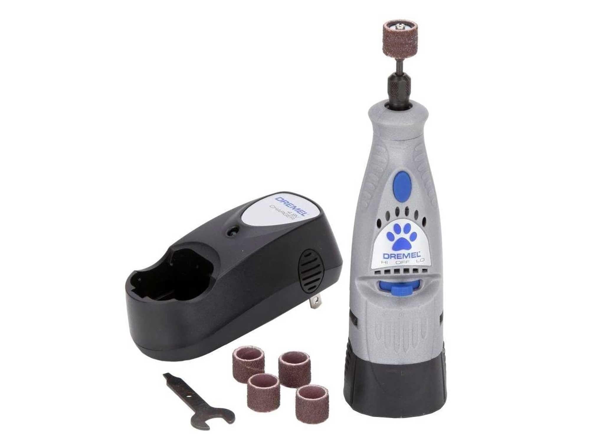 Dremel 4.8V Cordless Pet Dog Nail Grooming & Grinding Tool, Safely & Humanely Trim Pet & Dog Nails, Grey
