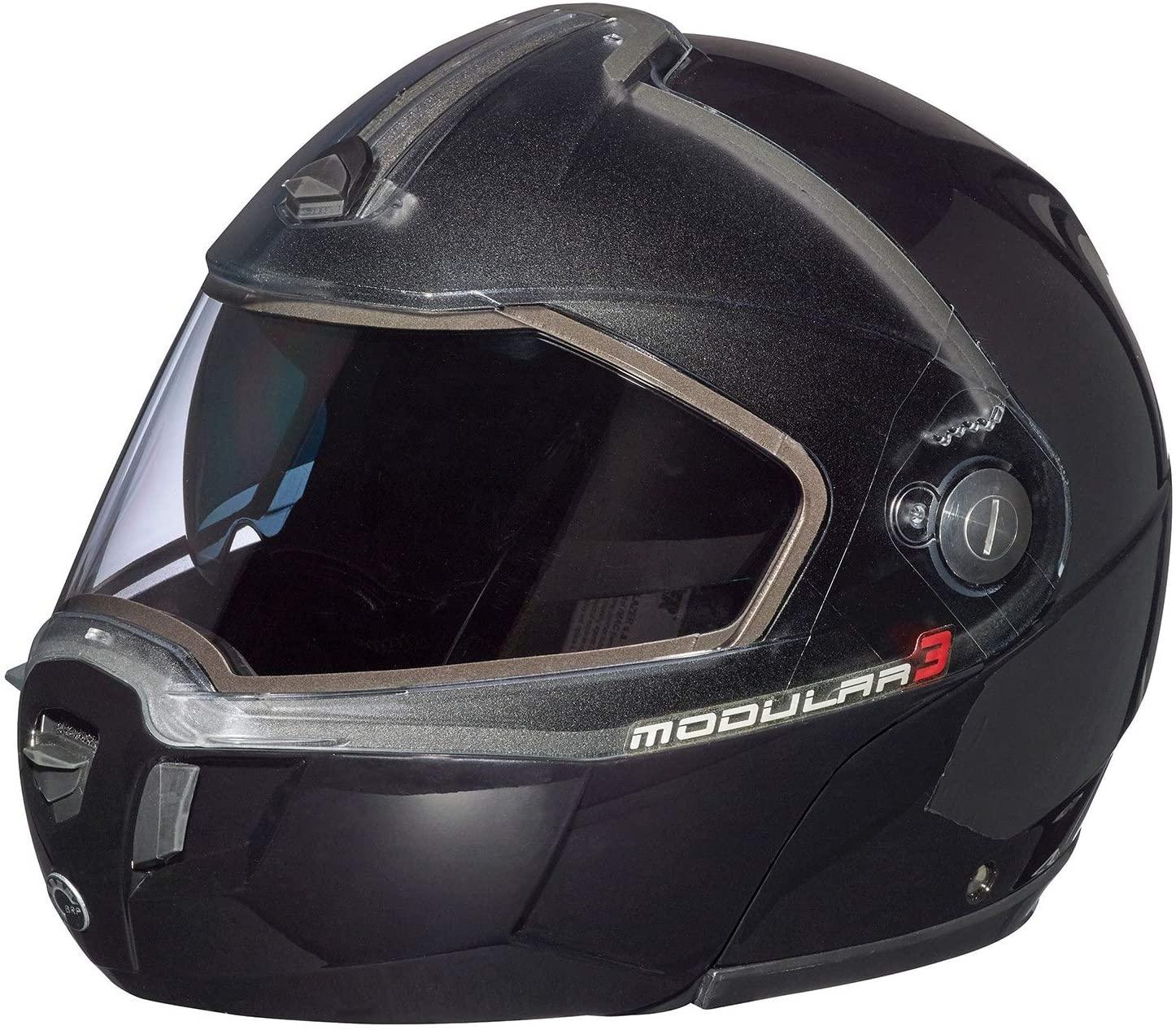 Ski-doo Modular 3 Snowmobiling Helmet-Black is one of the best snowmobile helmets