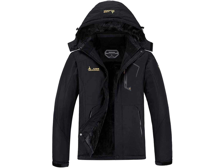 MOERDENG Men's Waterproof Ski Jacket