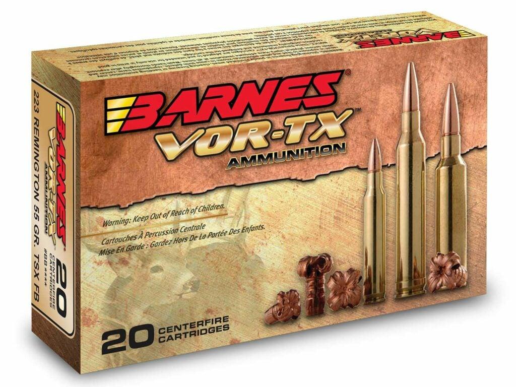 A box of Barnes VORTX ammo.
