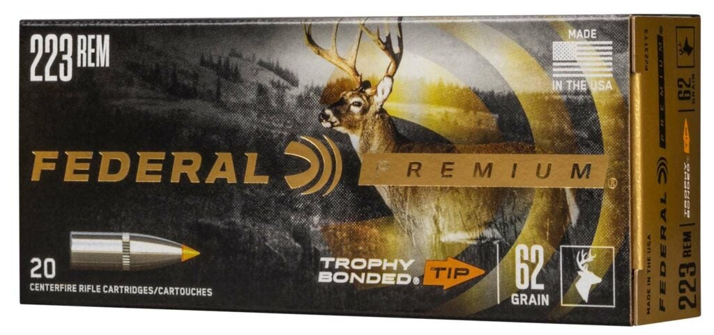 The Federal Premium Trophy bonded ammo.