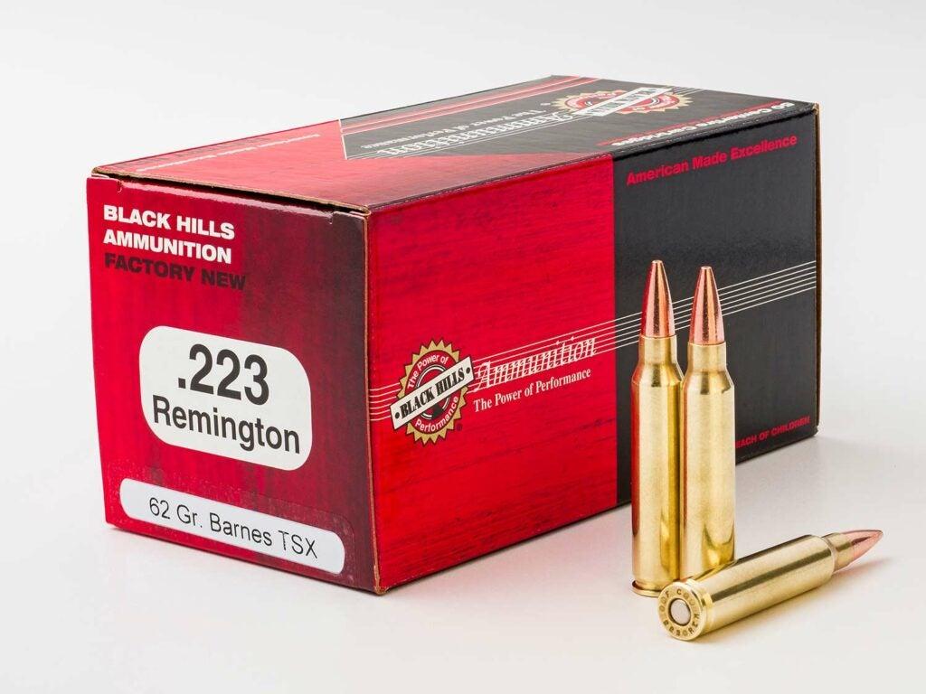 A box of black hills barnes ammo.