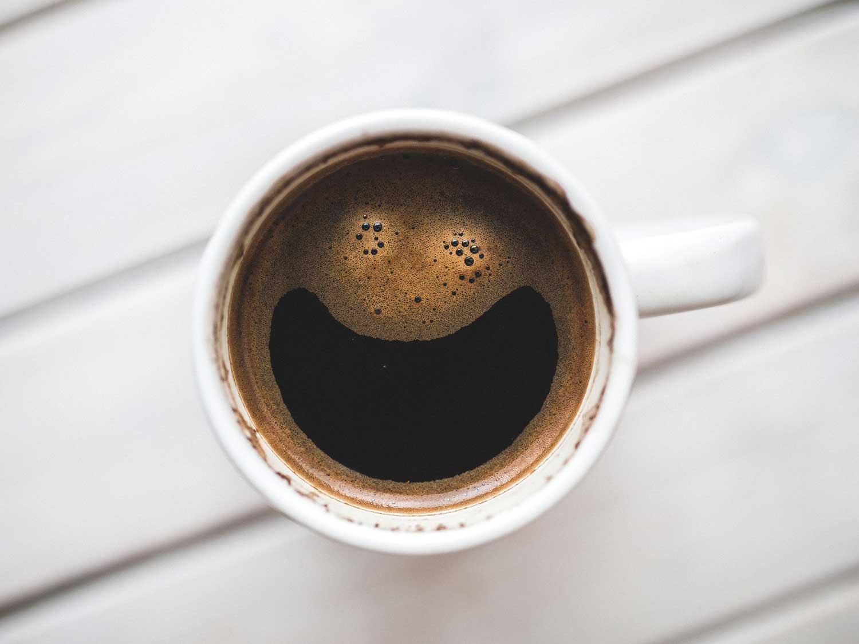 Coffee in mug.