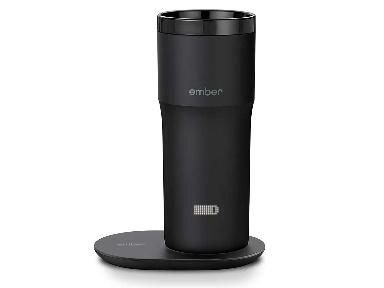 NEW Ember Temperature Control Travel Mug 2, 12 oz, Black, 3-hr Battery Life - App Controlled Heated Coffee Travel Mug - Improved Design