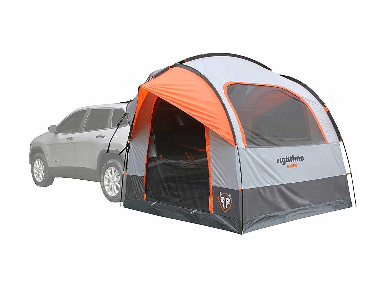 Rightline Gear-110907 SUV Tent, Sleeps Up to 6, Universal Fit, Orange.