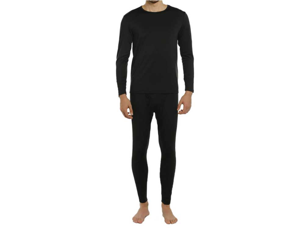 ViCherub Men's Thermal Underwear Set Long Johns with Fleece Lined Base Layer Thermals Sets for Men