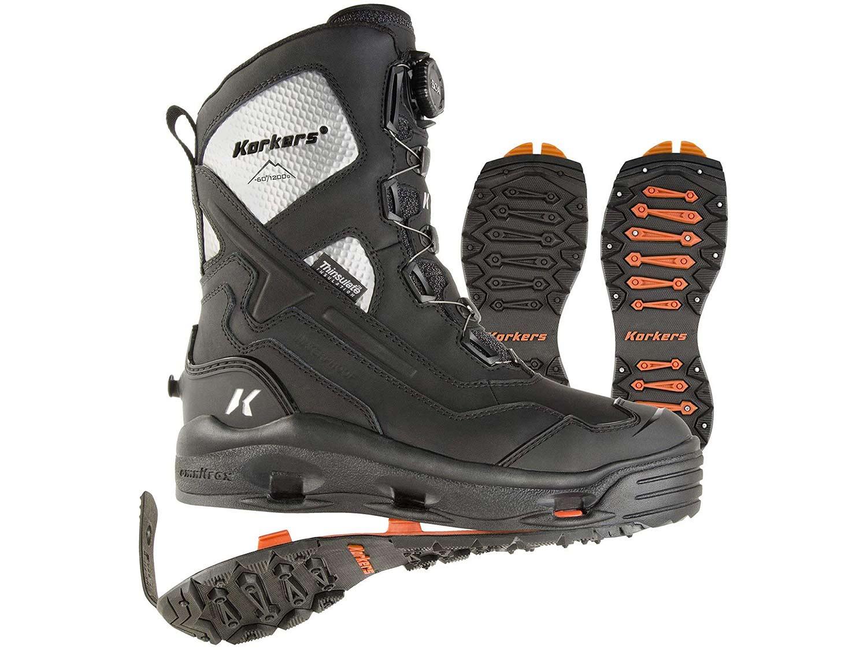 Korkers Men's Polar Vortex 1200 Winter Boots with Interchangeable Sole
