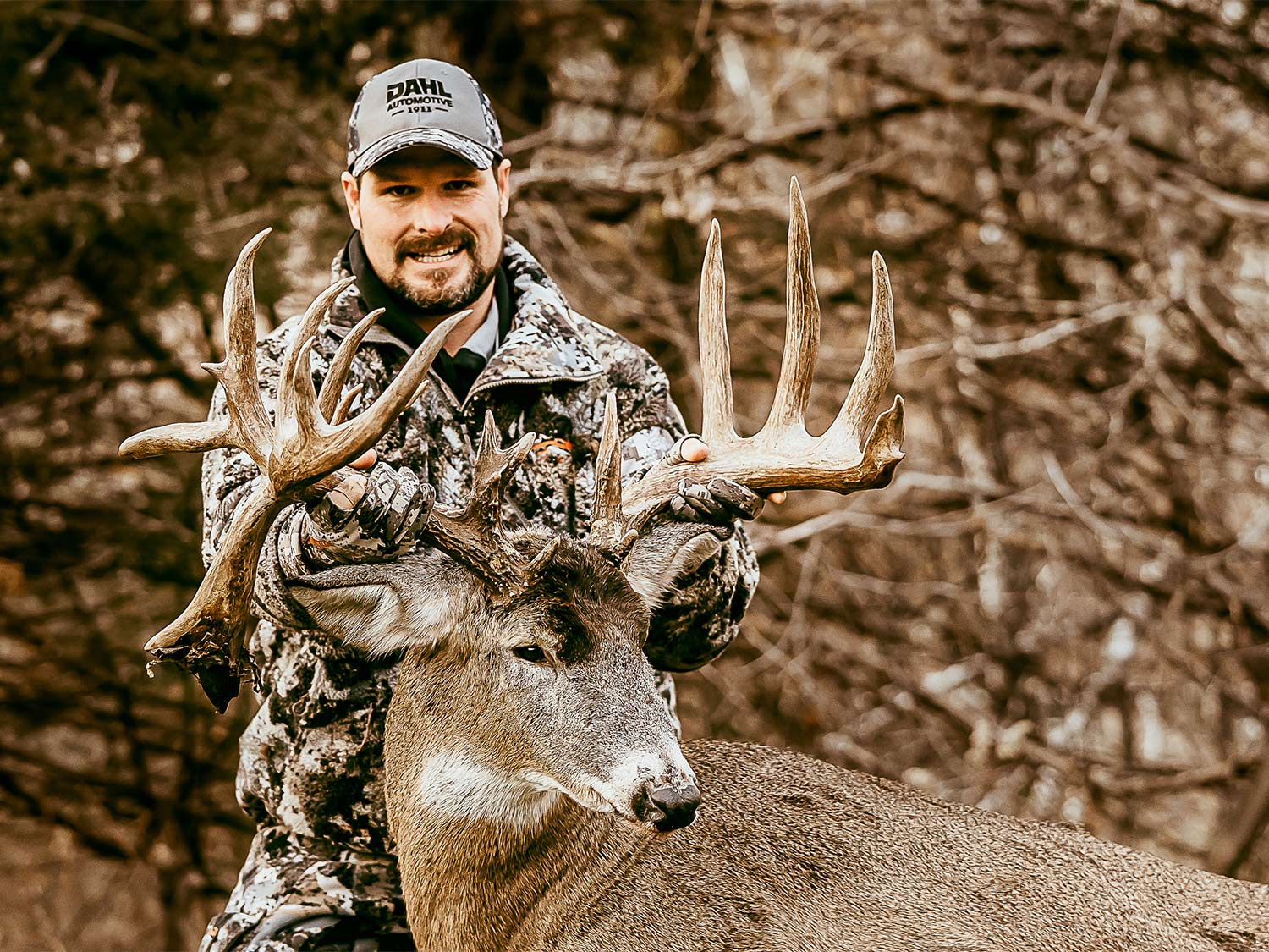 Kyle Dulek shows off his drop-tine giant.