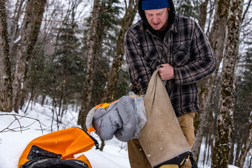 Dry bags keep your hunting gear dry in tough weather conditions.
