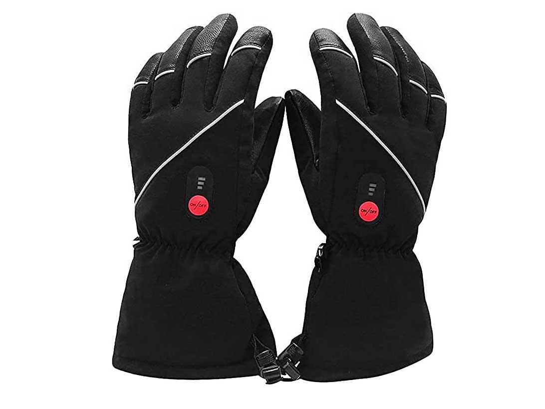 Savior Heated Gloves for Men Women, Rechargeable Electric Heated Gloves,Heated Skiing Gloves and Snowboarding Gloves