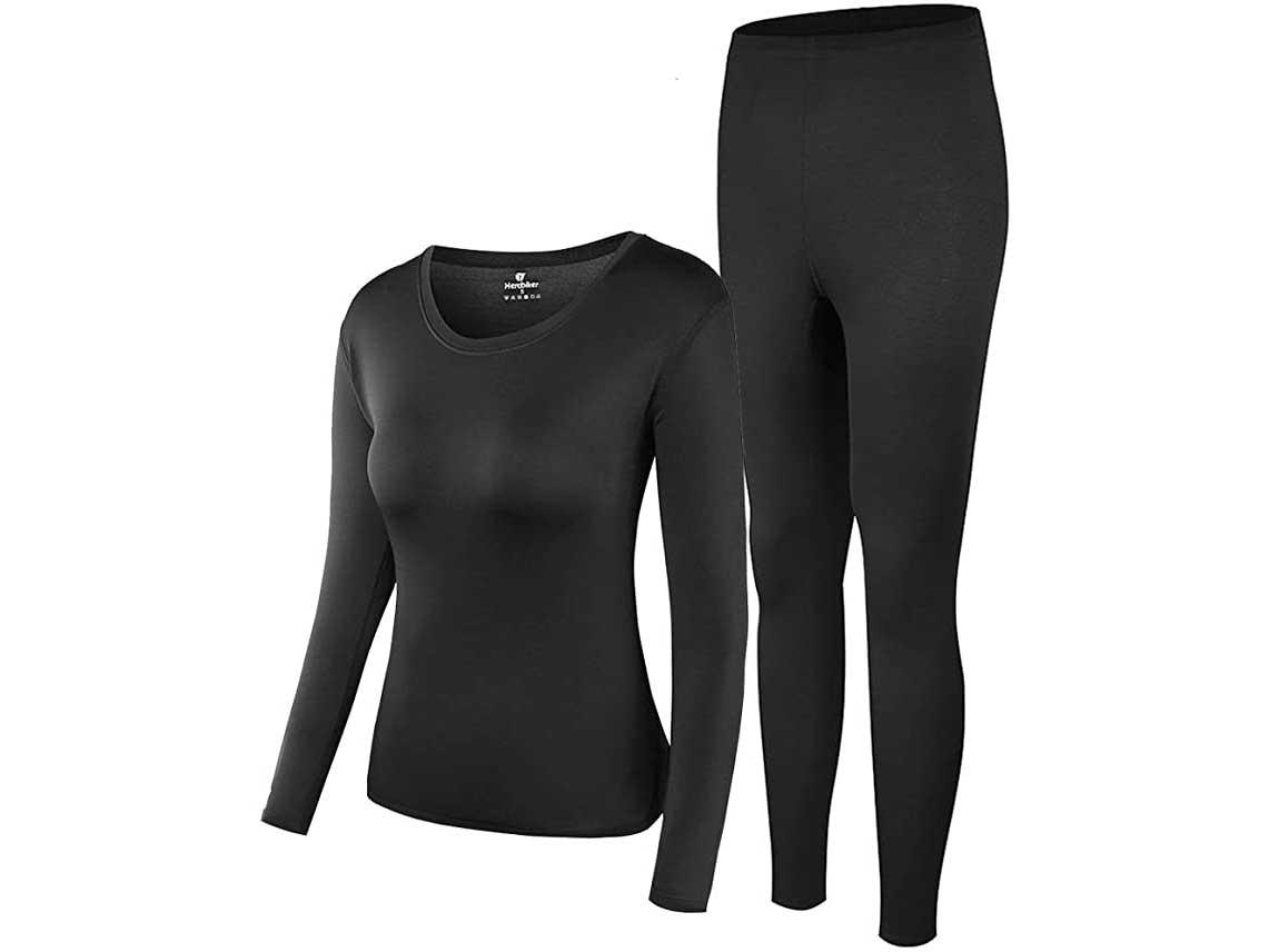 Thermal Underwear Women Ultra-Soft Long Johns Set Base Layer Skiing Winter Warm Top & Bottom