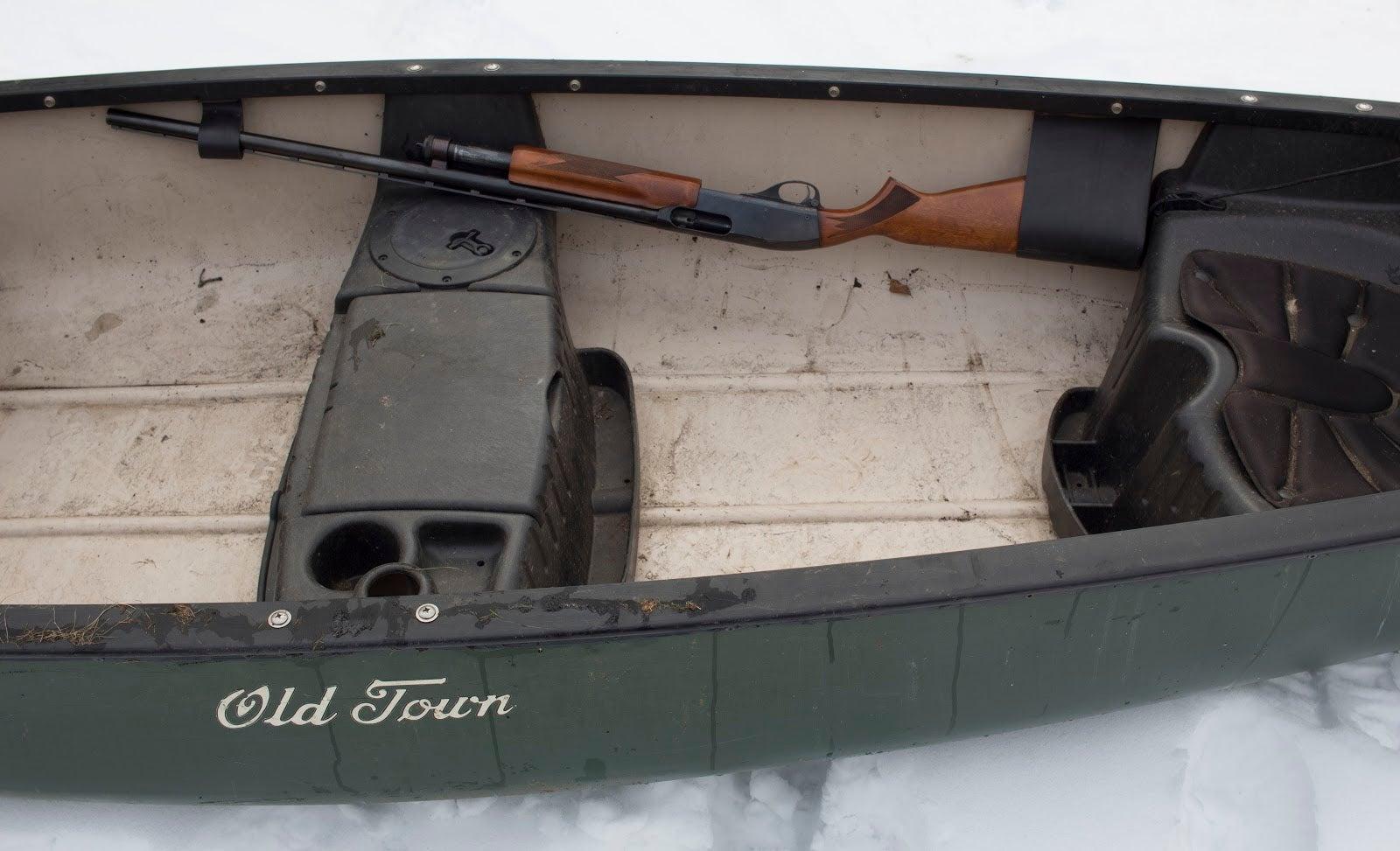 Canoe gun rack.