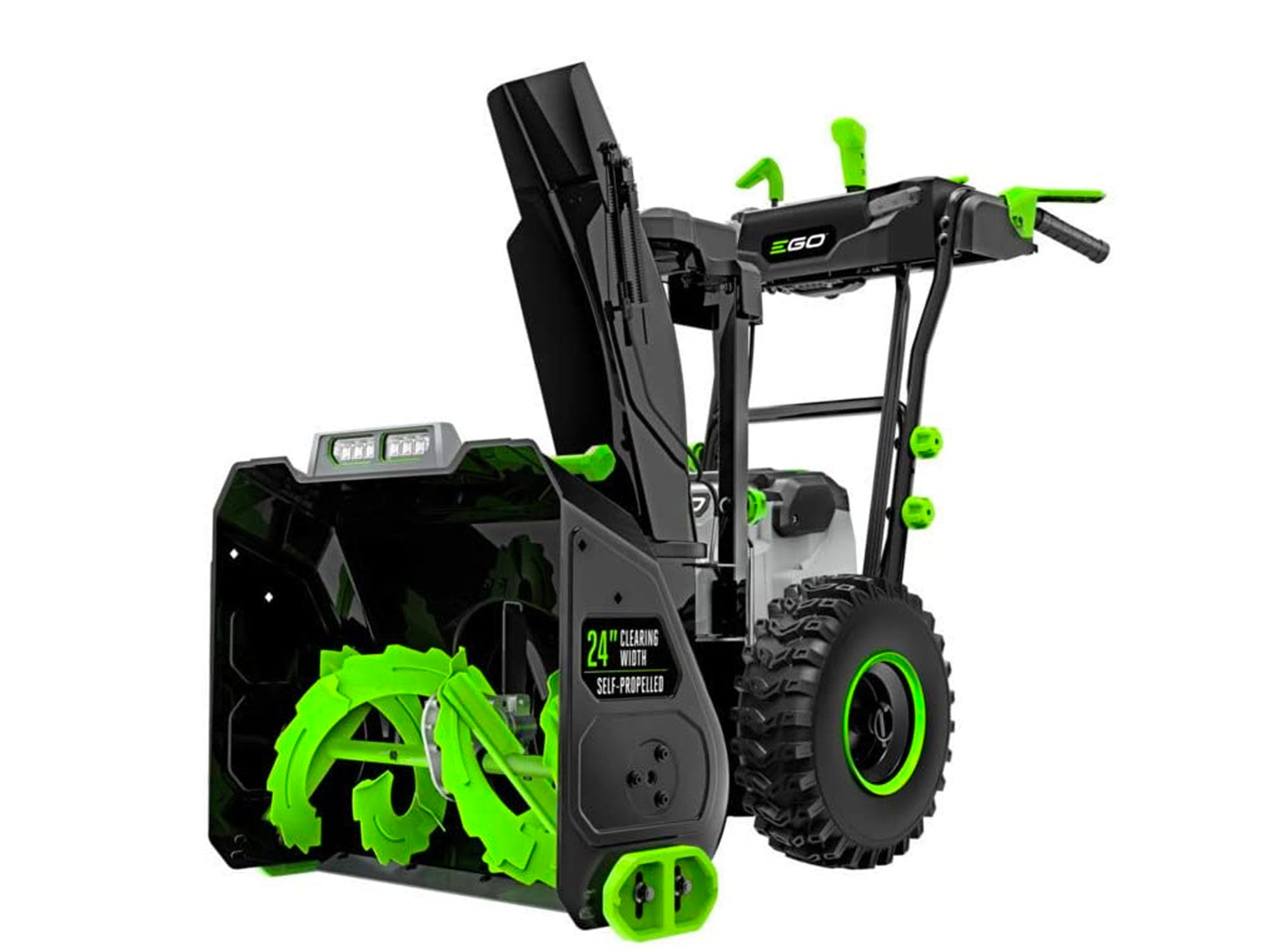 EGO Power+ 24 in. Self-Propelled 2-Stage Snow Blower with Peak Power Battery and Charger Not Included, Black