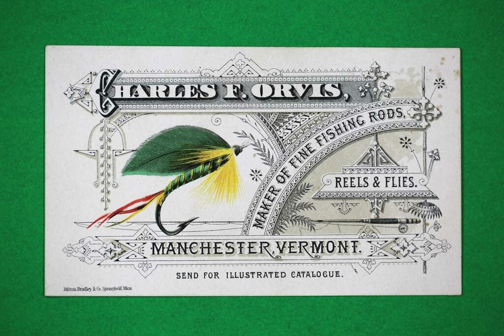 manchester vermont early trade card