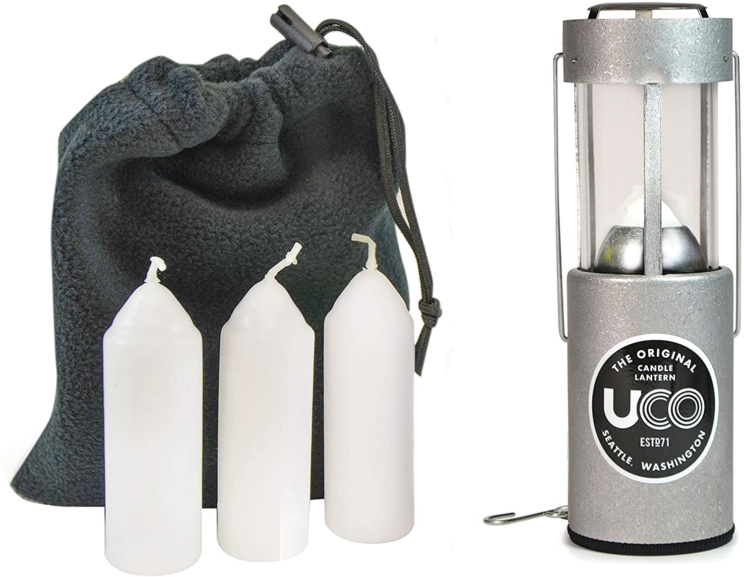 UCO Original Candle Lantern Kit with three extra candles.