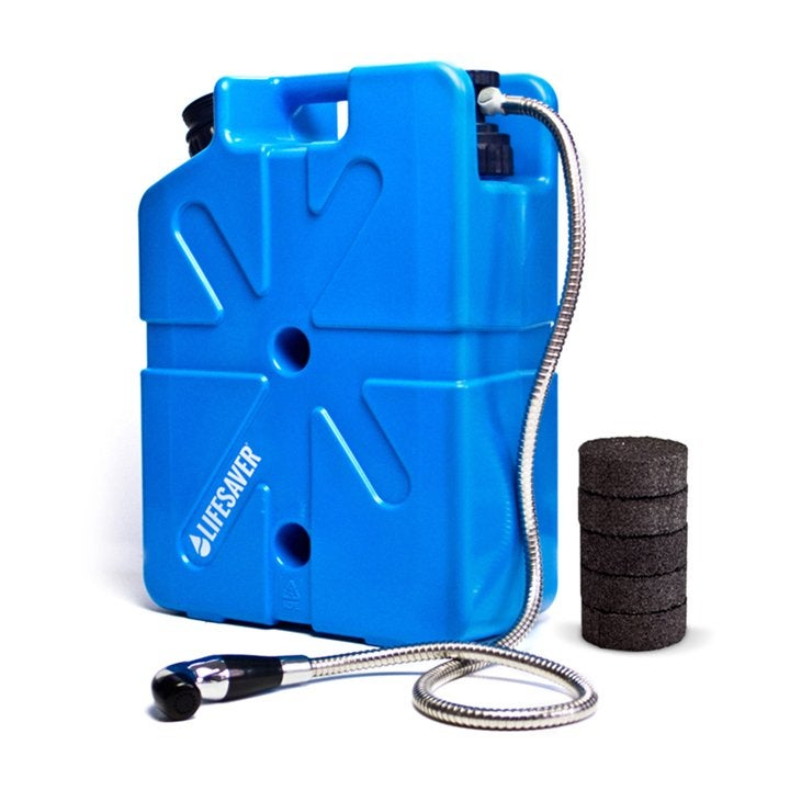 LifeSaver water filter jerry can.
