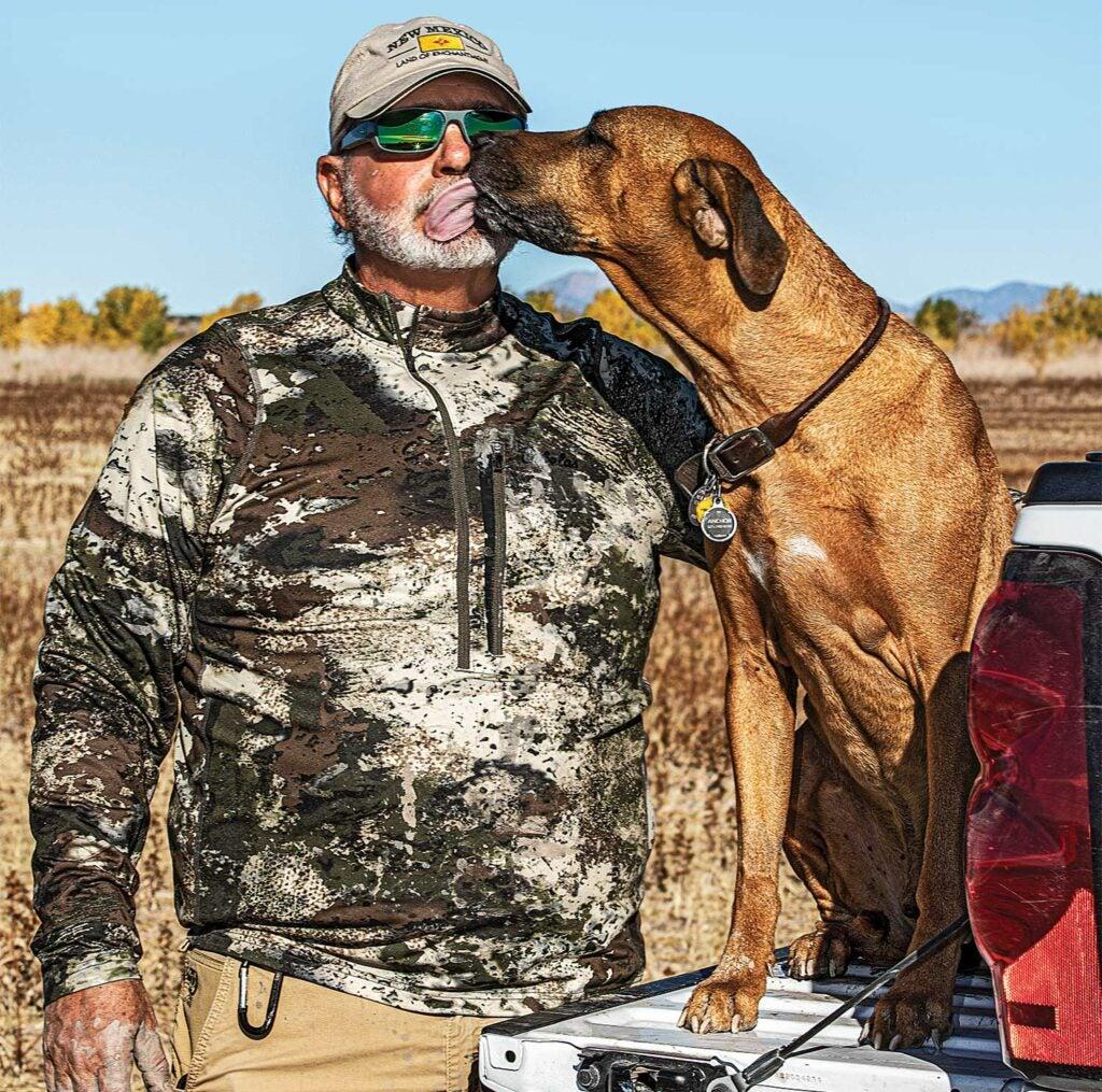 Hunter and his hunting dog.