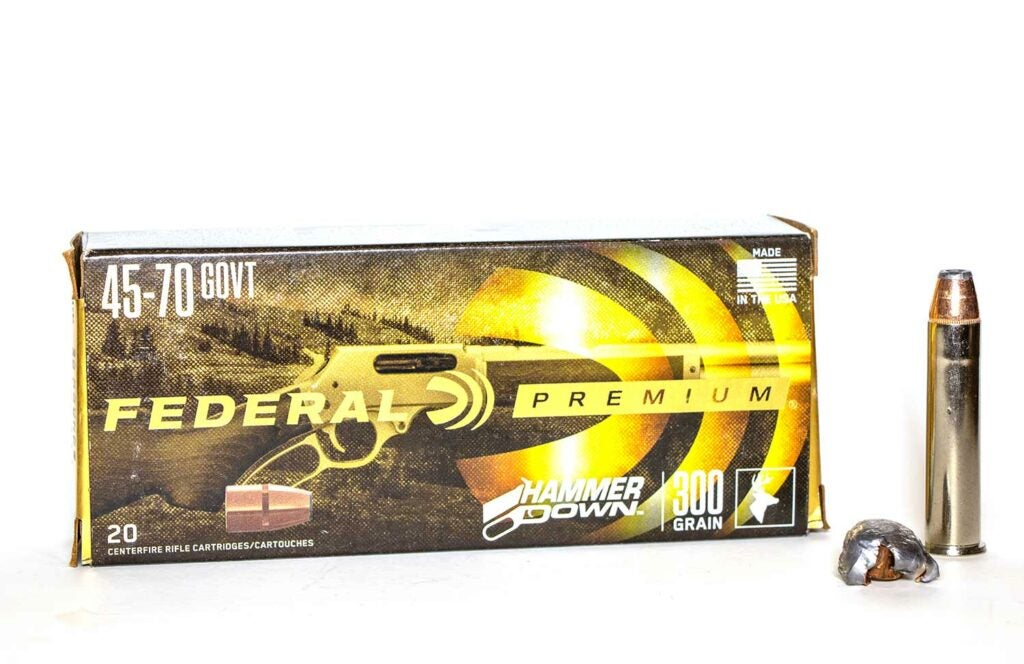 Federal Premium Hammer Down ammo in .45/70.