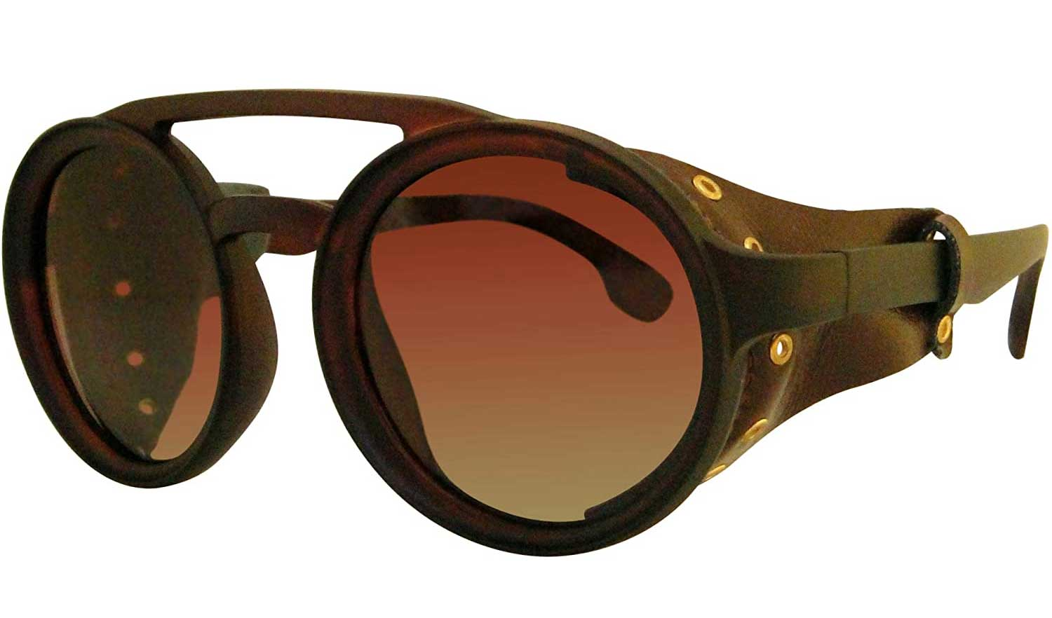 polarized round steampunk hiking and fishing man and women goggles sunglasses