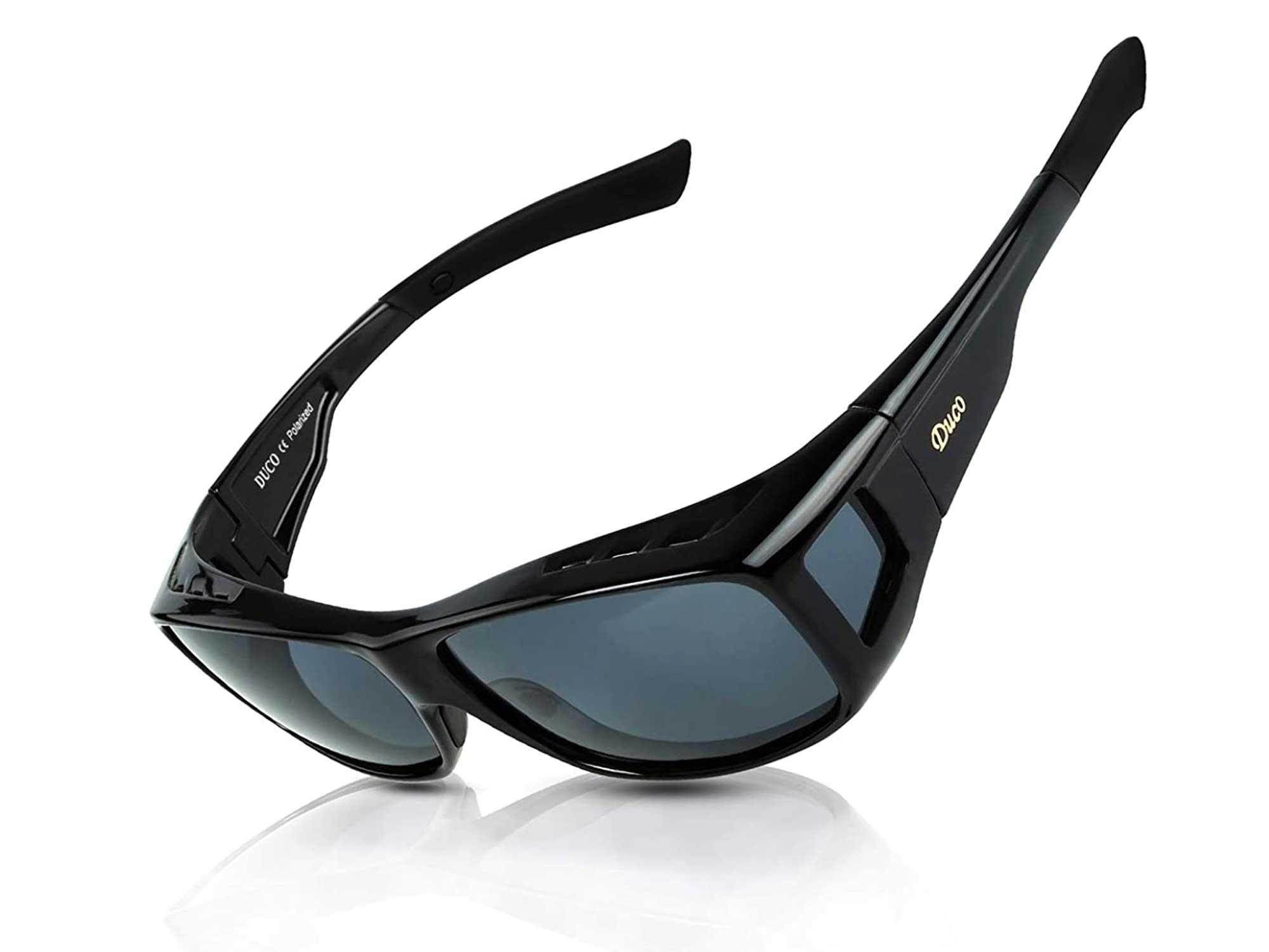 DUCO Unisex Wraparound Fitover Glasses Polarized Wear Over Sunglasses