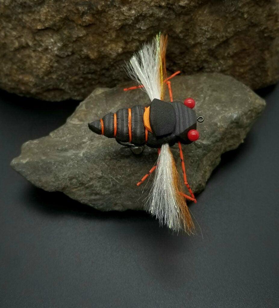sonic cicada flyfishing pattern.