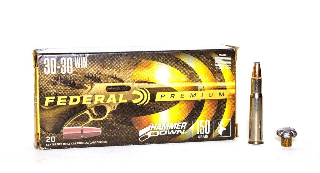 A box of Federal Premium Hammerdown ammo.