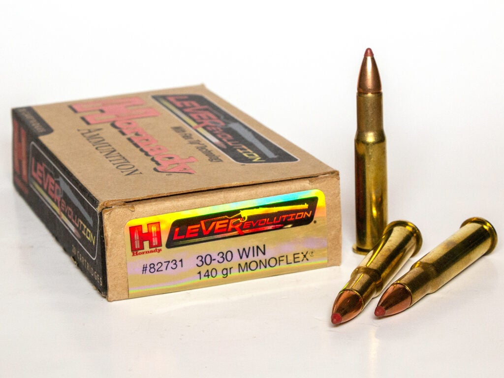 A box of Hornady Lever 30-30 winchester ammo.