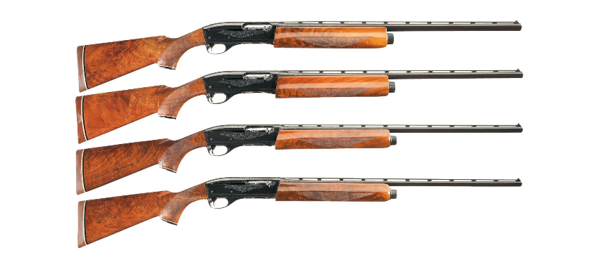 A matched set of Remington 1100s, including 12, 20, 28, and .410.