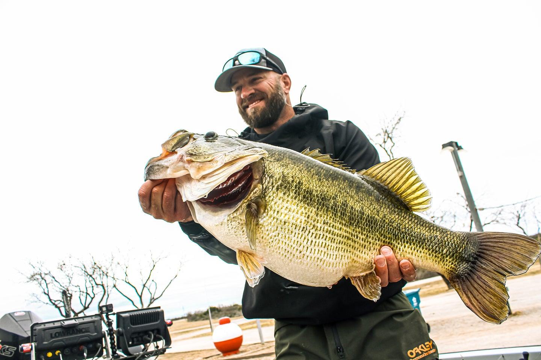 Man holding big fish.