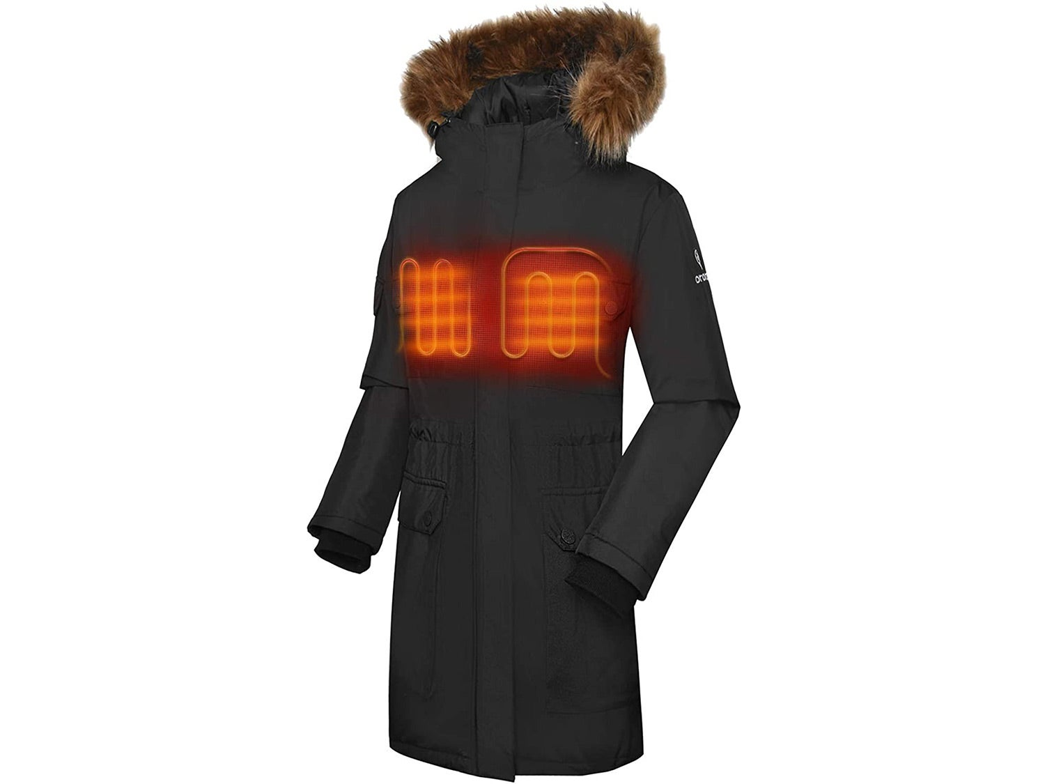 Ororo Women's Heated Parka Jacket with Thermolite Insulation