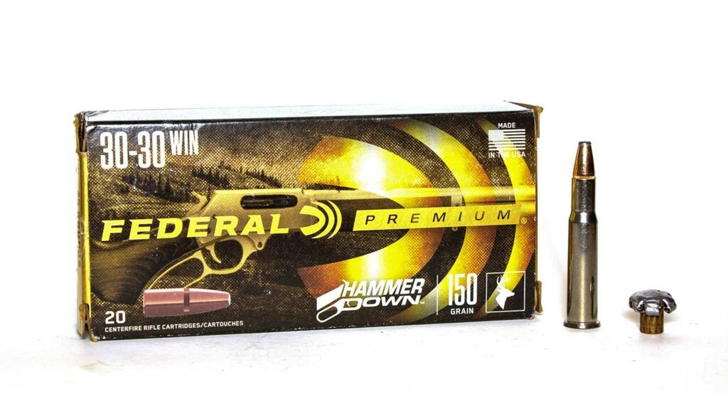 A box of Federal .30/30 Winchester ammunition.