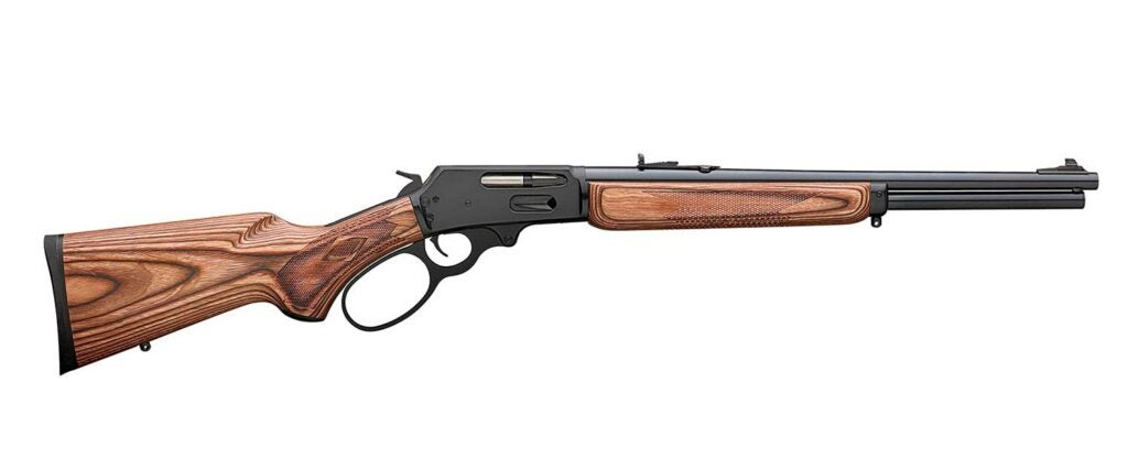 A Marlin 336 rifle on a white background.