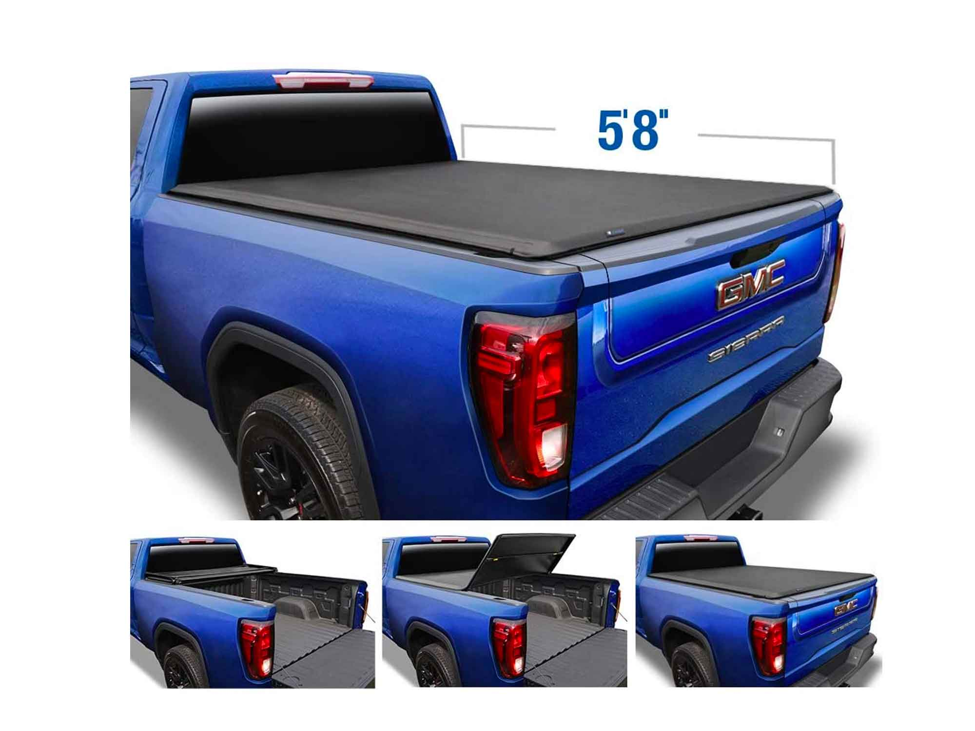 Tyger Auto T3 Soft Tri-Fold Truck Bed Tonneau Cover Compatible with 2019-2021 Chevy Silverado/GMC Sierra 1500 New Body   5'8