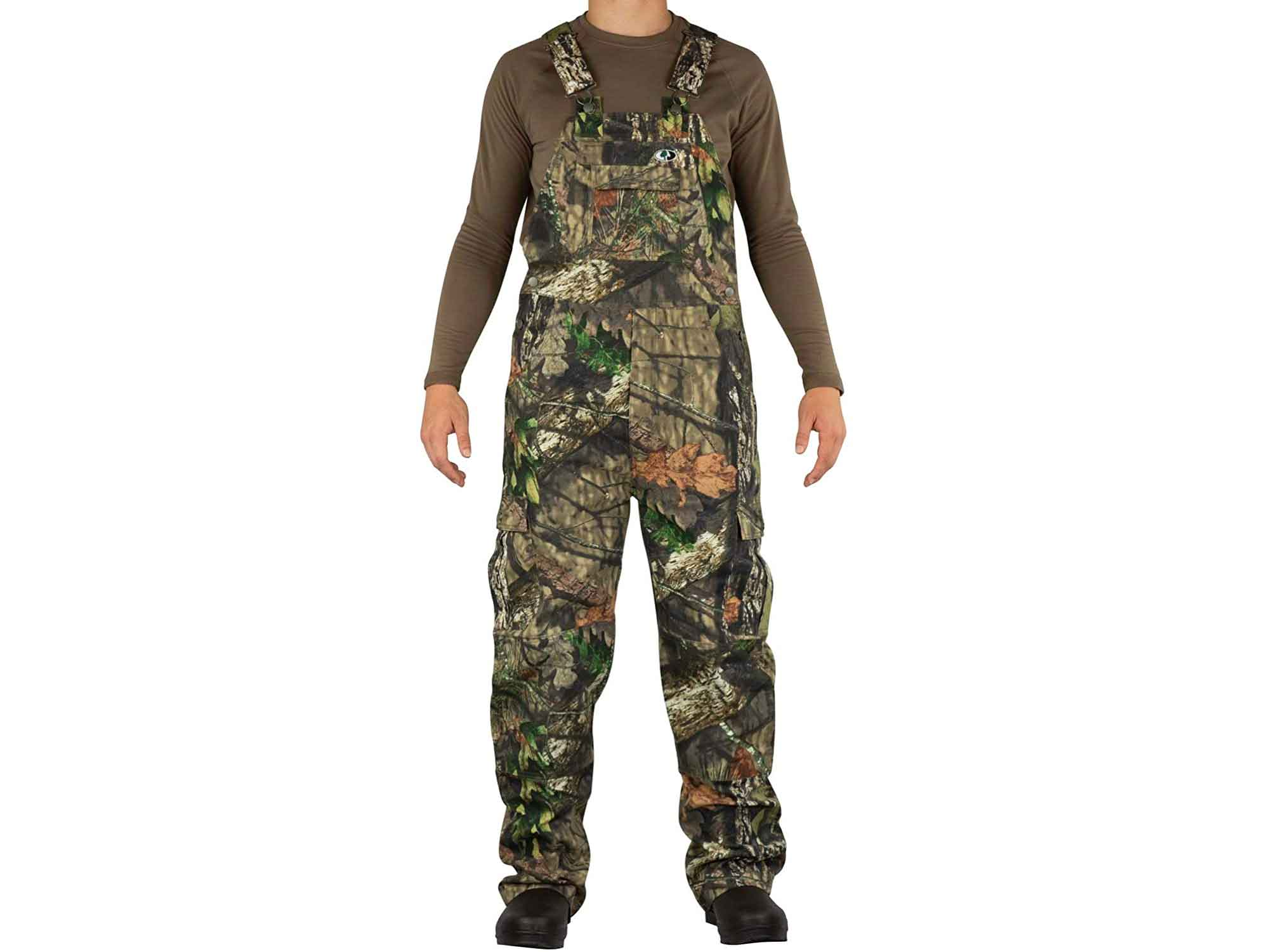 Mossy Oak Cotton Mill 2.0 Camo Hunting Bibs, Uninsulated Camo Overalls for Men