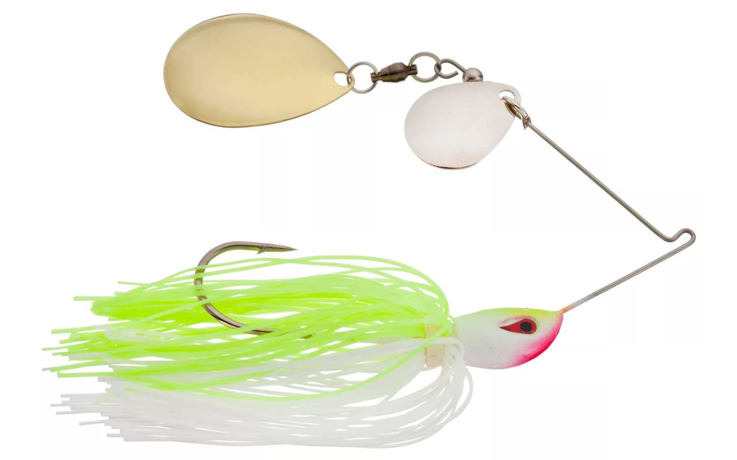 Double Colorado Blade Spinnerbait with Zoom Split Tail Trailer
