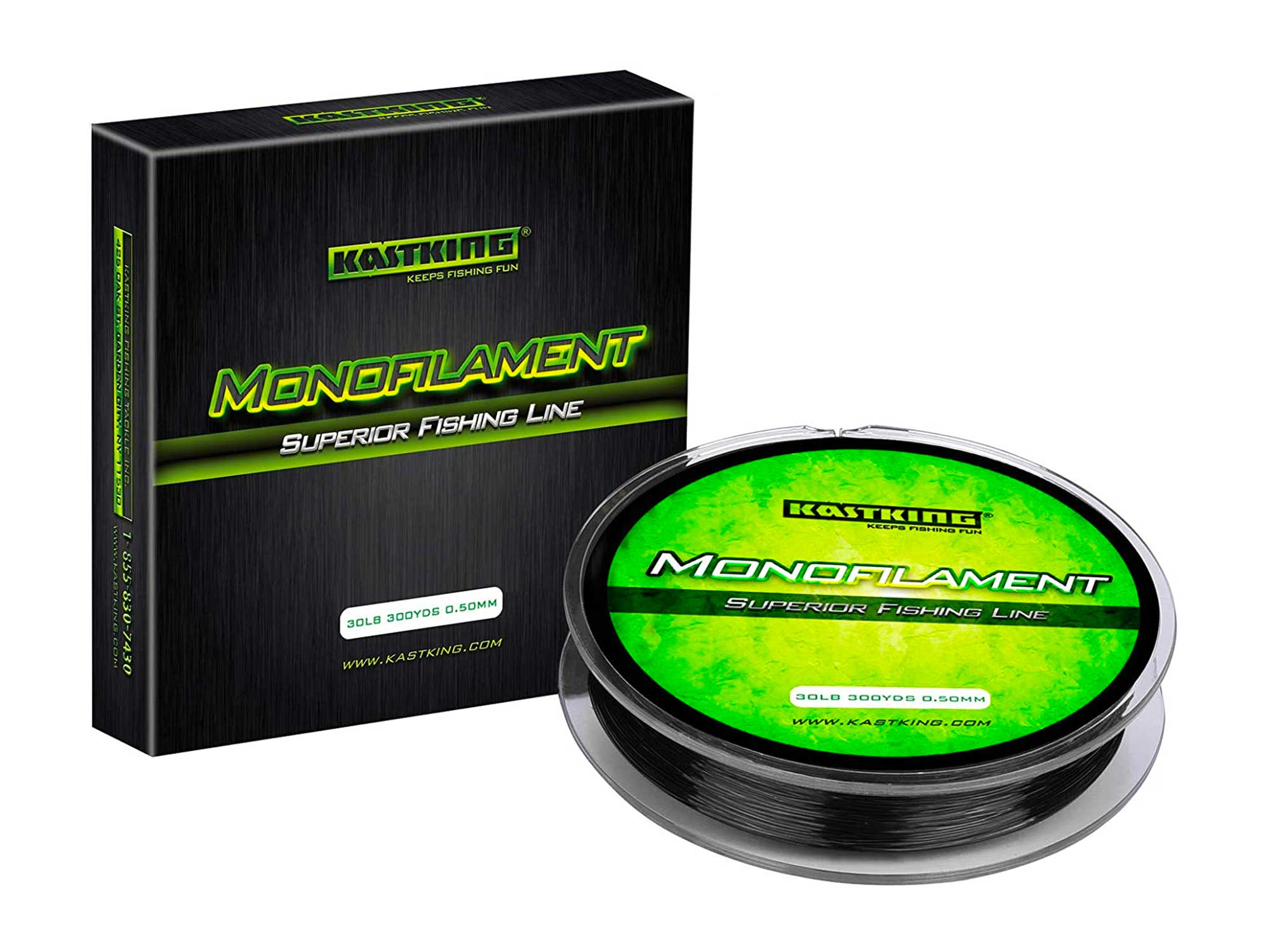 KastKing World's Premium Monofilament Fishing Line - Paralleled Roll Track - Strong and Abrasion Resistant Mono Line - Superior Nylon Material Fishing Line