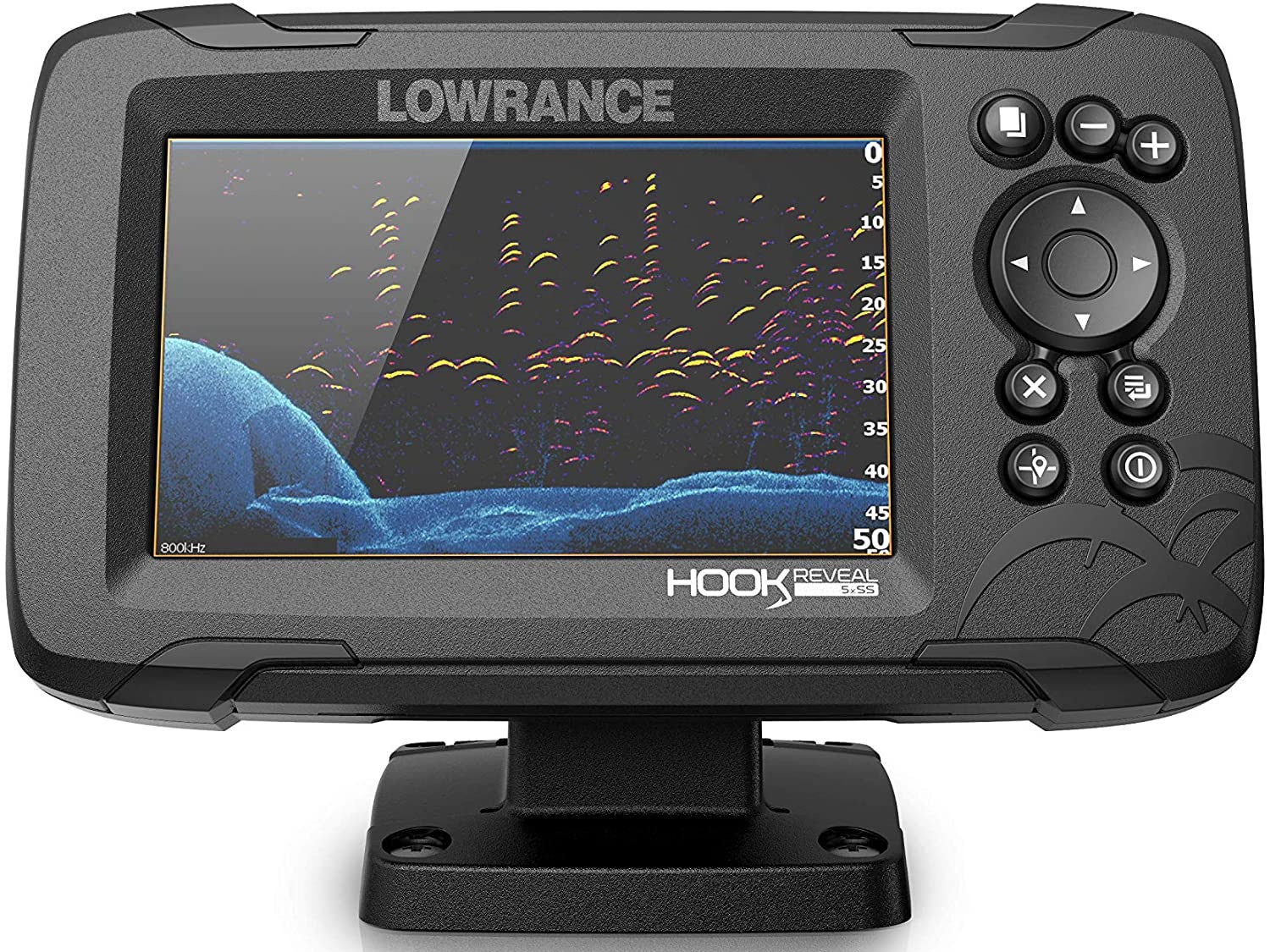 Lowrance HOOK Reveal 5x SplitShot Fish Finder is the best fish finder for kayak