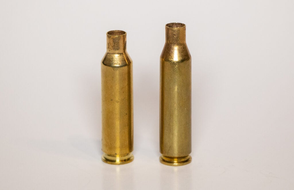 6.5 Creedmoor and .260 Remington brass comparison side by side