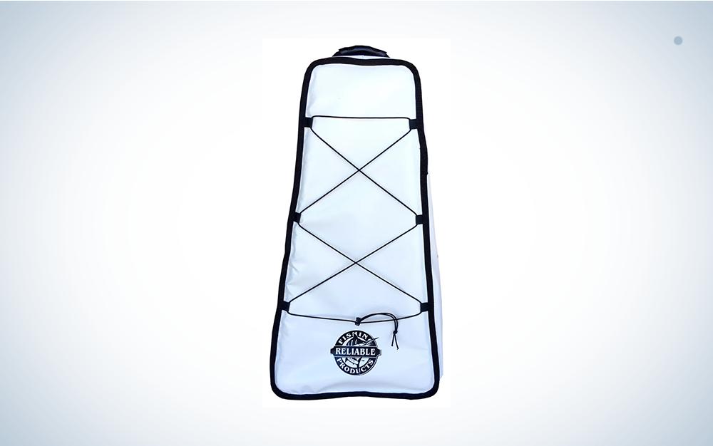 white kayak bag