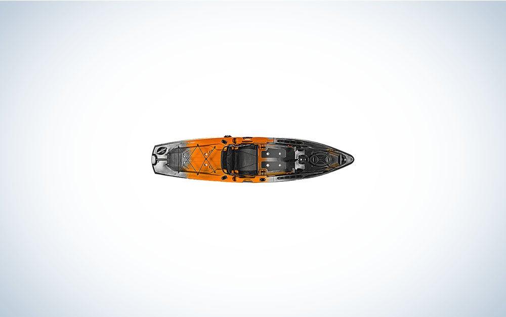 Orange and gray paddle kayak