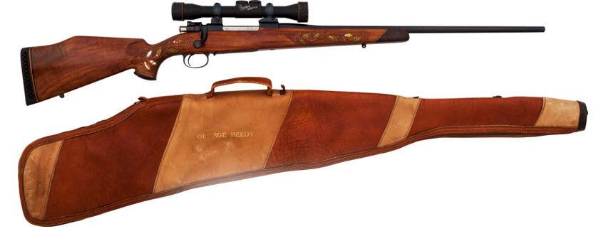 Lyndon Johnson's Weatherby rifle.