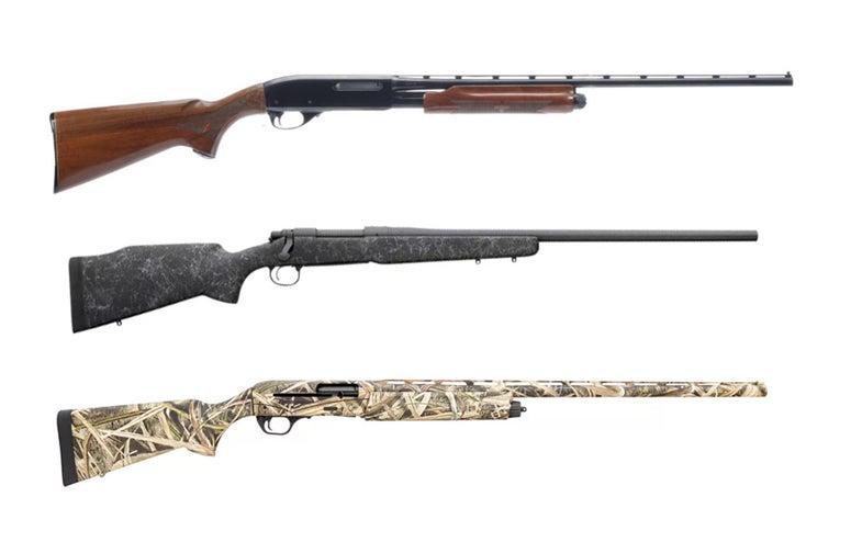 Remington 870, 700, and V3.