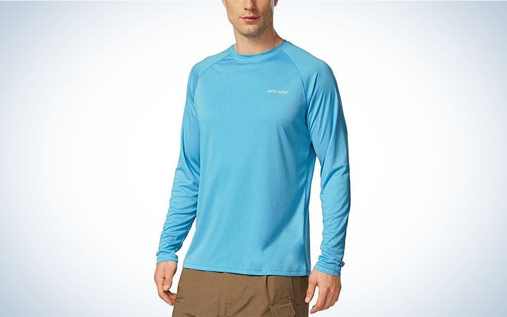 Blue UPF shirt