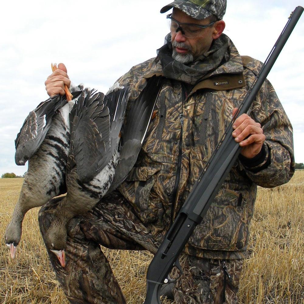 A hunter with Remington V3 semi-auto shotgun