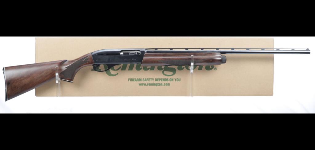 A 28-gauge Remington 1100 shotgun.