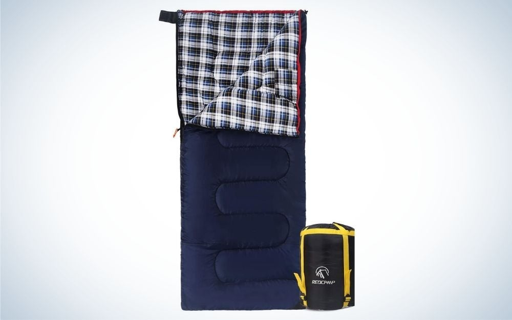 X-large navy blue summer sleeping bag with zipper