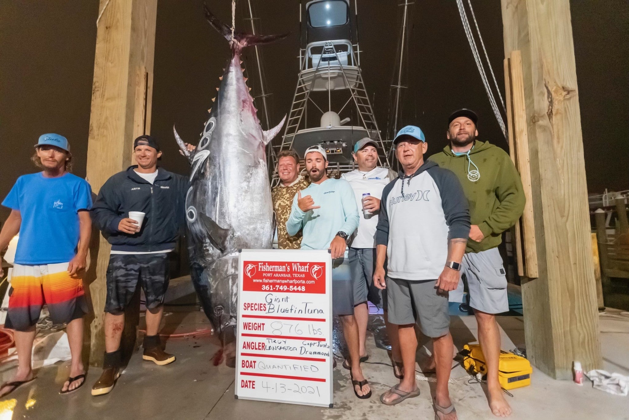 After a 9-Hour Fight, This 876-Pound Tuna Could Be a New Texas Record