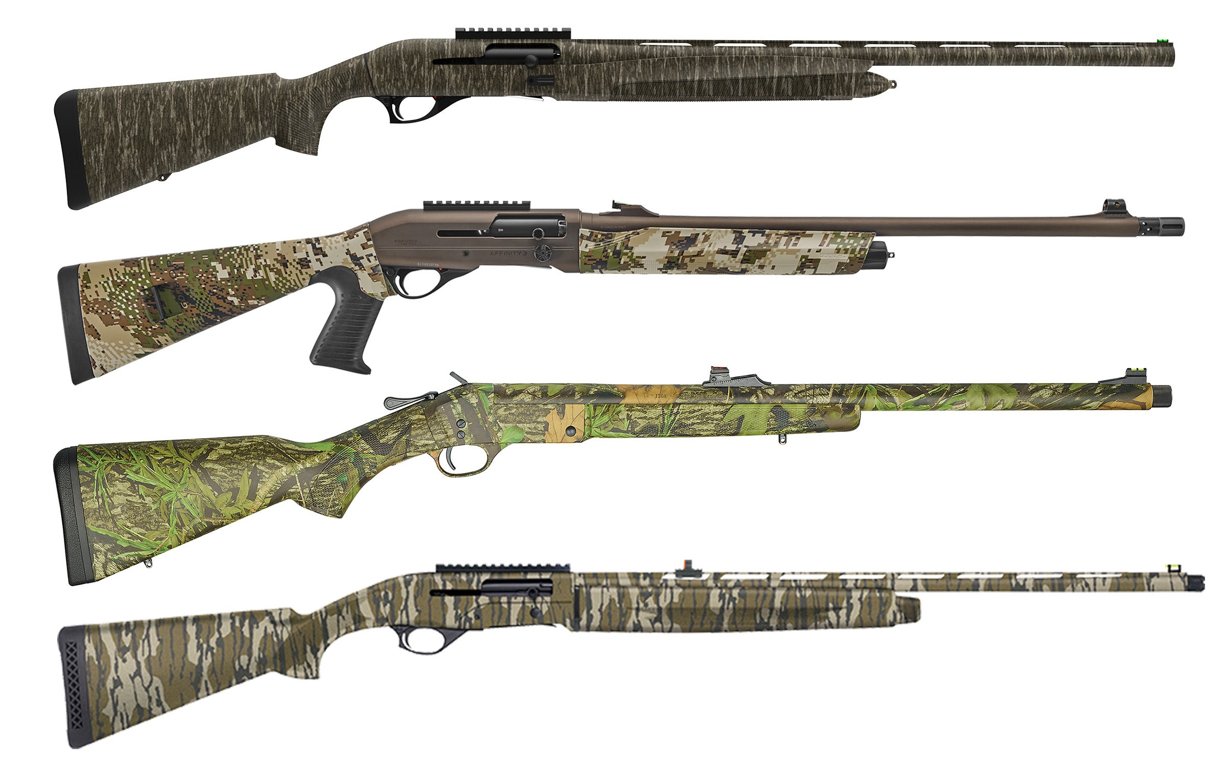 Selection of new turkey shotguns.