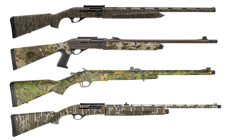 Selection of new turkey shotguns.