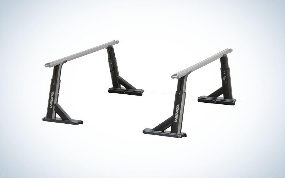 Black kayak roof rack with adjustable height